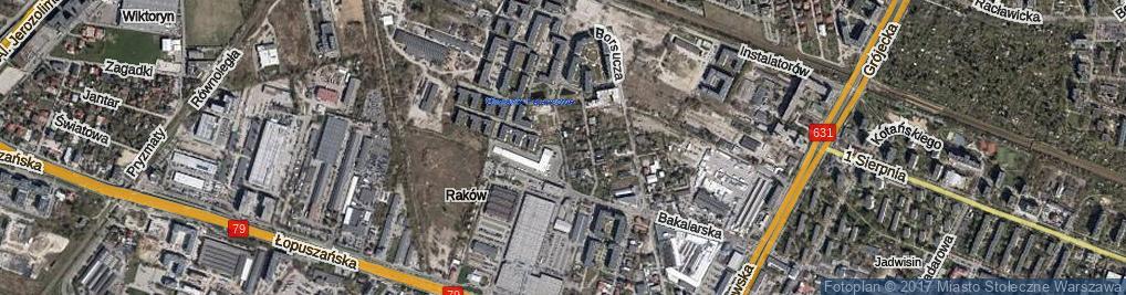 Zdjęcie satelitarne Fajansowa ul.