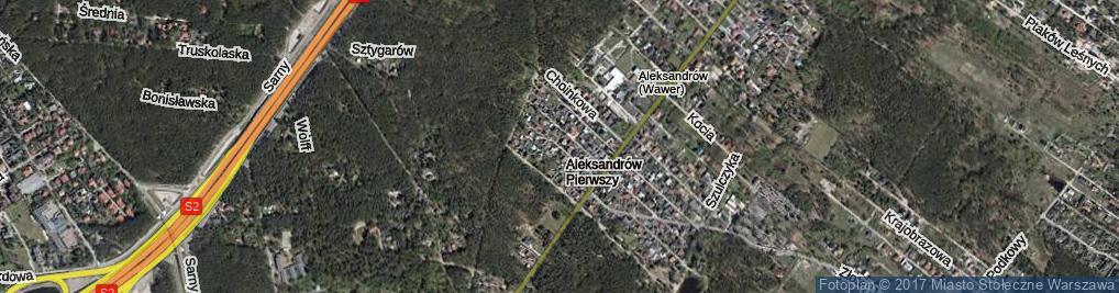 Zdjęcie satelitarne Falenicka ul.