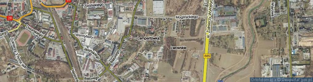 Zdjęcie satelitarne Fedkowicza Jerzego ul.