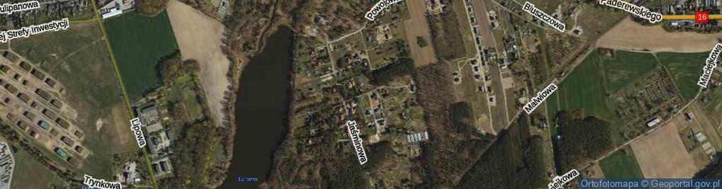 Zdjęcie satelitarne Fiołkowa ul.