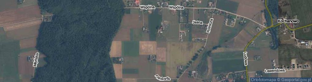 Zdjęcie satelitarne Fieldorfa-Nila Augusta Emila, gen. ul.
