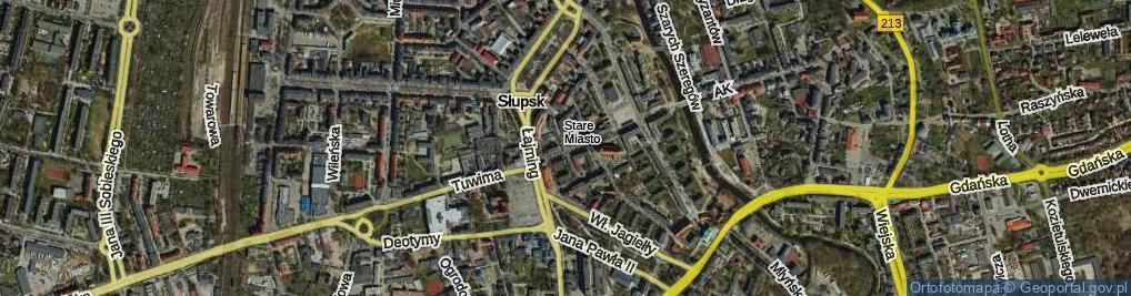 Zdjęcie satelitarne Filmowa ul.