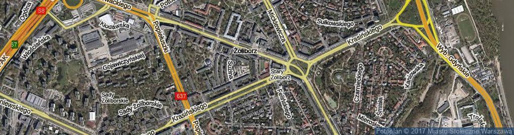Zdjęcie satelitarne Filarecka ul.