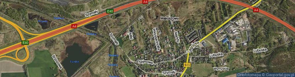 Zdjęcie satelitarne Filipka Maksymiliana ul.