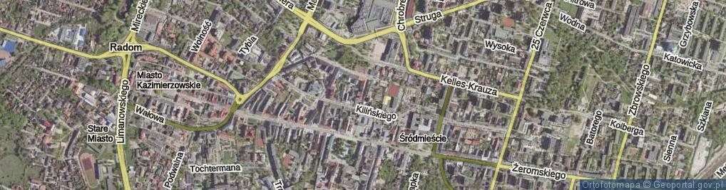 Zdjęcie satelitarne Focha Ferdynanda, marsz. ul.
