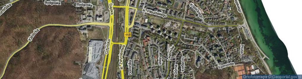 Zdjęcie satelitarne Franciszkańska ul.
