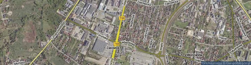 Zdjęcie satelitarne Frontowa ul.