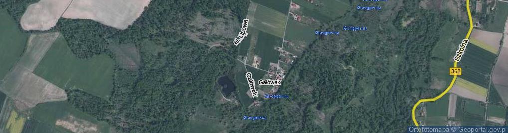 Zdjęcie satelitarne Gałówek ul.