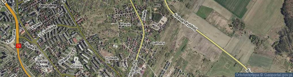 Zdjęcie satelitarne Galmany ul.