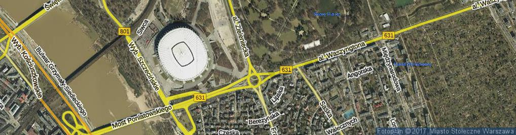 Zdjęcie satelitarne Gallijska ul.