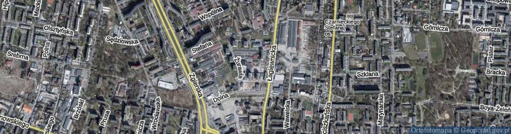 Zdjęcie satelitarne Gęsia ul.