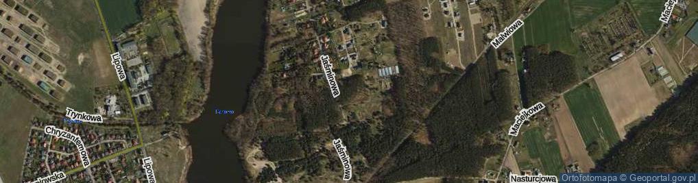 Zdjęcie satelitarne Gerberowa ul.