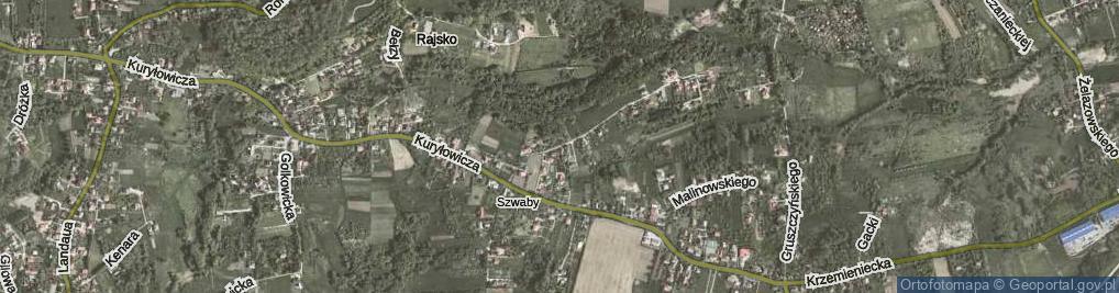 Zdjęcie satelitarne Geologów ul.