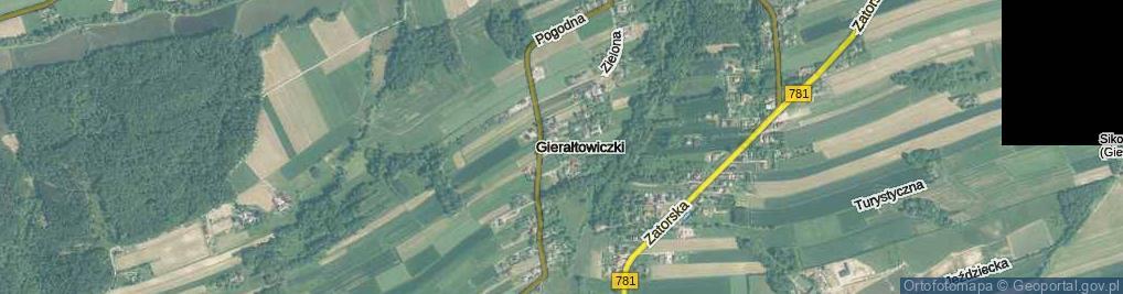 Zdjęcie satelitarne Gierałtowiczki ul.