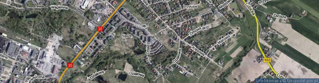 Zdjęcie satelitarne Gipsowa ul.
