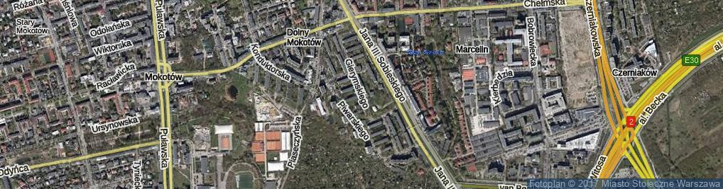 Zdjęcie satelitarne Gierymskiego Aleksandra ul.