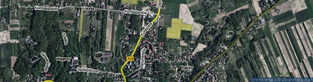 Zdjęcie satelitarne Głębocznica ul.