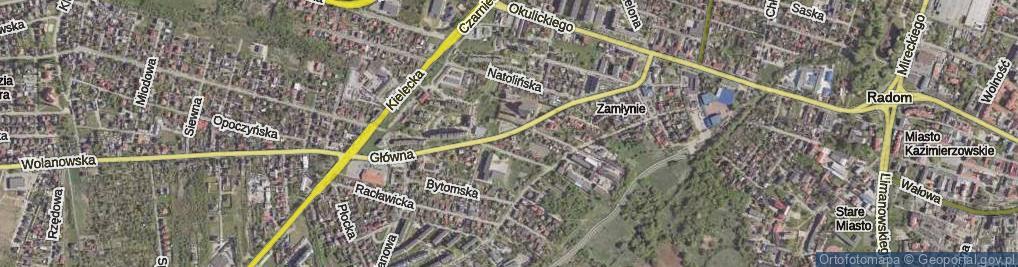 Zdjęcie satelitarne Główna ul.