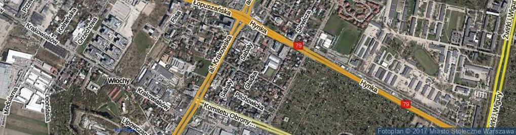 Zdjęcie satelitarne Gładka ul.