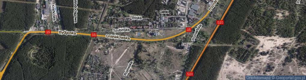 Zdjęcie satelitarne Gniewkowska ul.