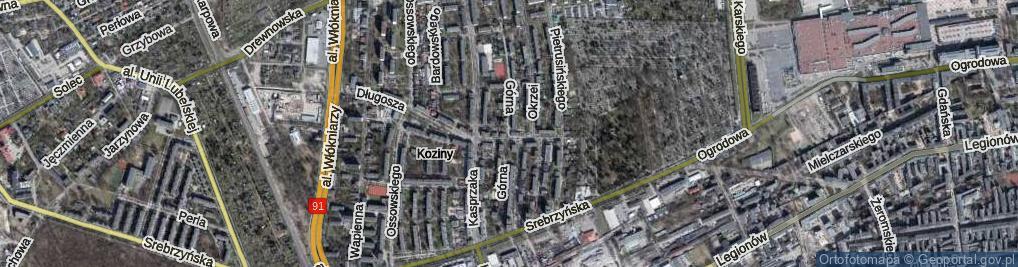 Zdjęcie satelitarne Górna ul.