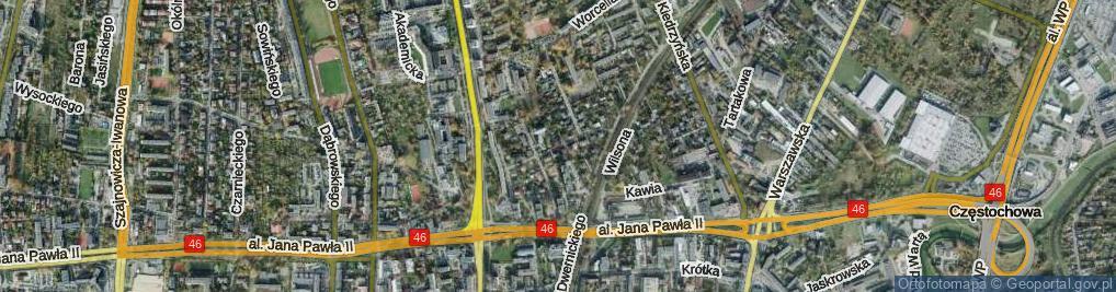 Zdjęcie satelitarne Godebskiego Cypriana ul.