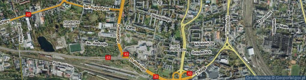 Zdjęcie satelitarne Goszczyńskiego ul.