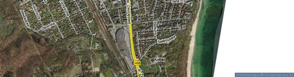 Zdjęcie satelitarne Goplany ul.