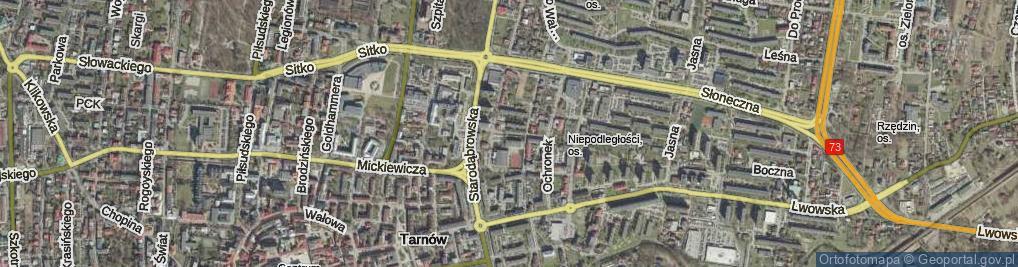 Zdjęcie satelitarne Gomoły Jana ul.