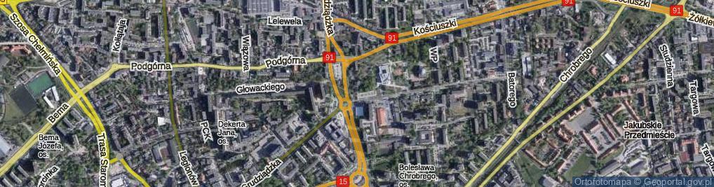 Zdjęcie satelitarne Gogi Pawła Piotra, ks. kan. ul.