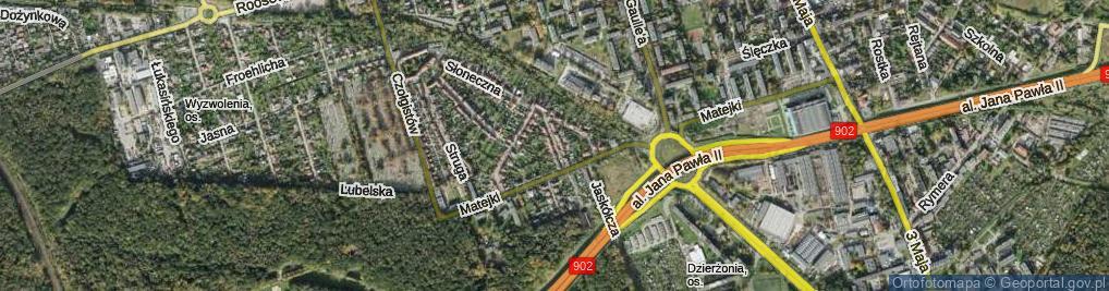 Zdjęcie satelitarne Gołębia ul.
