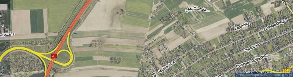 Zdjęcie satelitarne Graniczna ul.