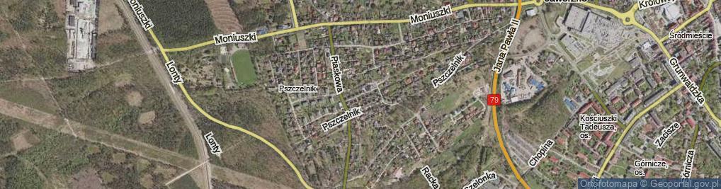 Zdjęcie satelitarne Gryfitów ul.