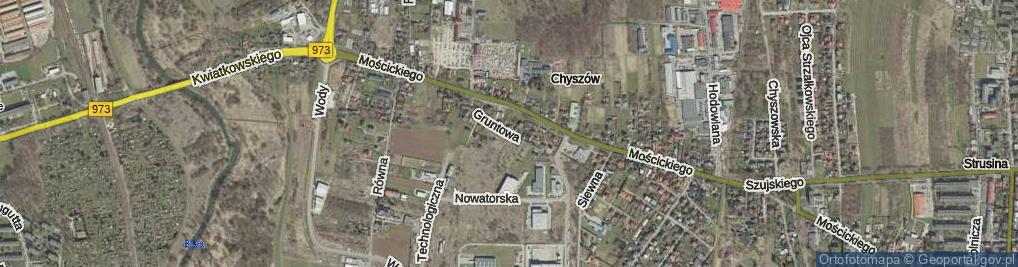 Zdjęcie satelitarne Gruntowa ul.