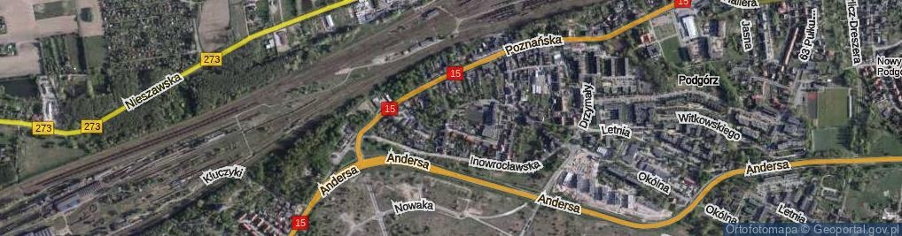Zdjęcie satelitarne Grabskiego Władysława ul.