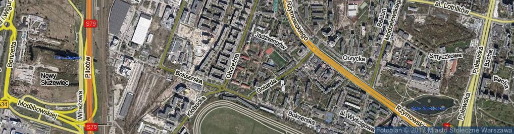 Zdjęcie satelitarne Gruszczyńskiego Piotra ul.