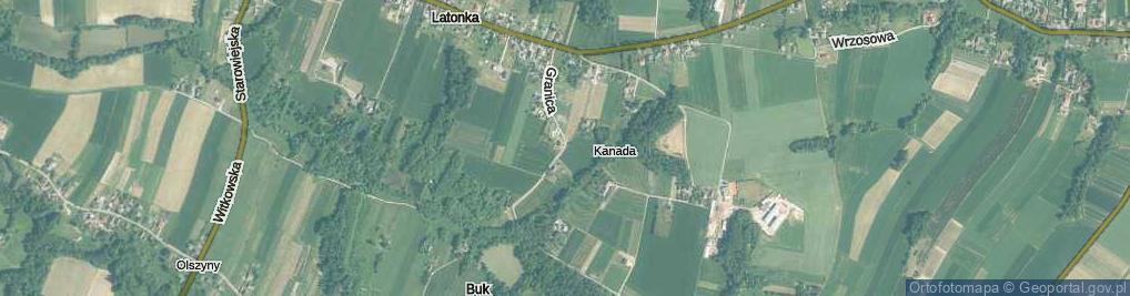 Zdjęcie satelitarne Granica ul.