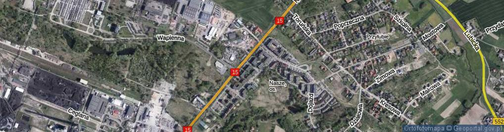 Zdjęcie satelitarne Guliwera ul.