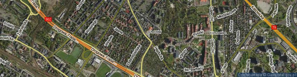 Zdjęcie satelitarne Hajducka ul.