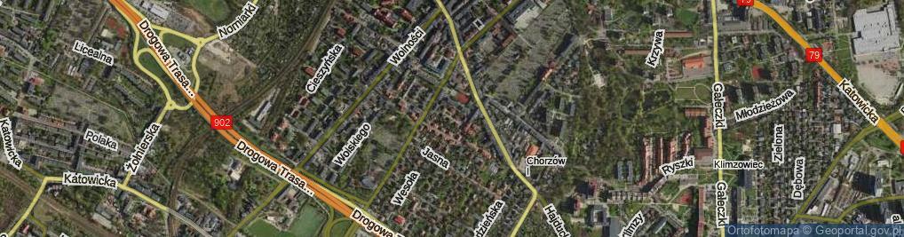 Zdjęcie satelitarne Hajdy Wawrzyna ul.