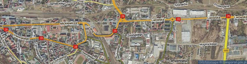 Zdjęcie satelitarne Harcerska ul.