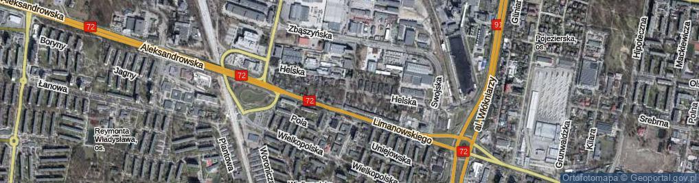 Zdjęcie satelitarne Helska ul.