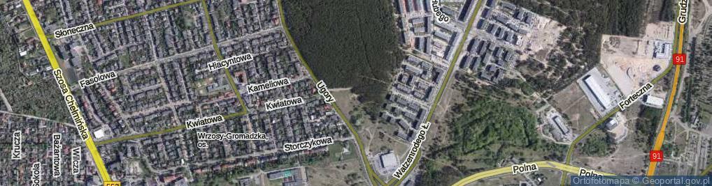 Zdjęcie satelitarne Hetmańska ul.