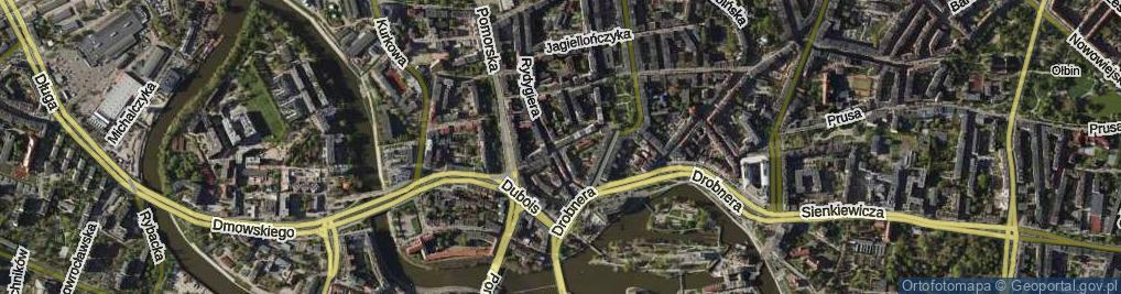 Zdjęcie satelitarne Henryka Brodatego ul.