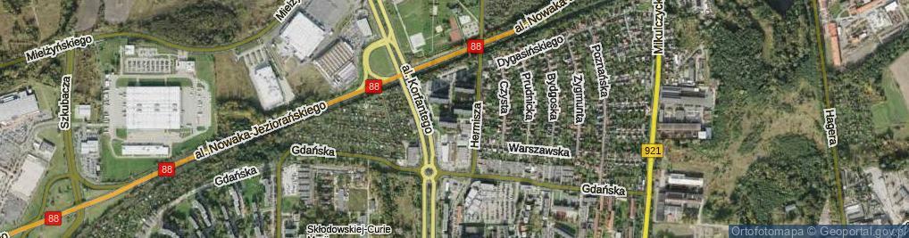Zdjęcie satelitarne Hermisza Karola ul.