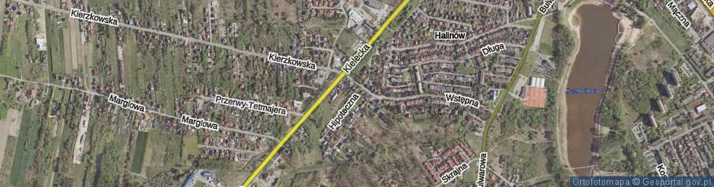 Zdjęcie satelitarne Hipoteczna ul.