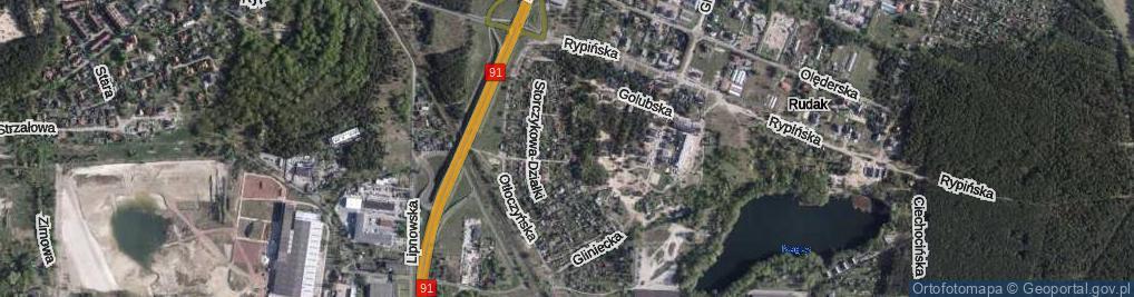 Zdjęcie satelitarne Hiacyntowa-Działki ul.