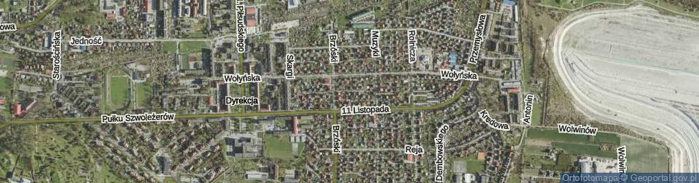 Zdjęcie satelitarne Hołyszowej Pauliny ul.
