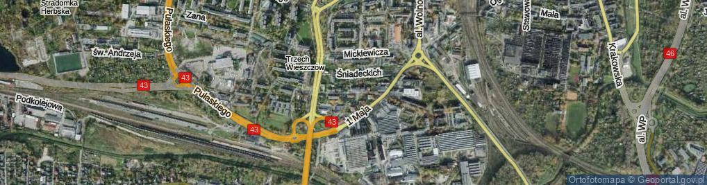 Zdjęcie satelitarne Hoene-Wrońskiego ul.