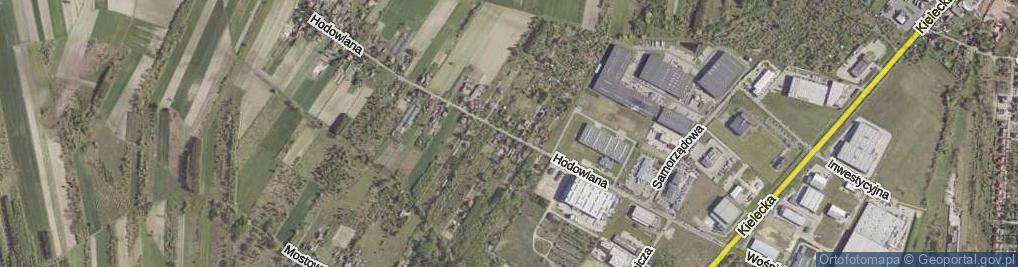 Zdjęcie satelitarne Hodowlana ul.